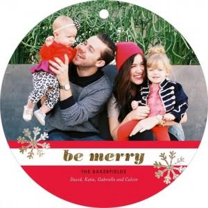 Tiny Print Holiday Card