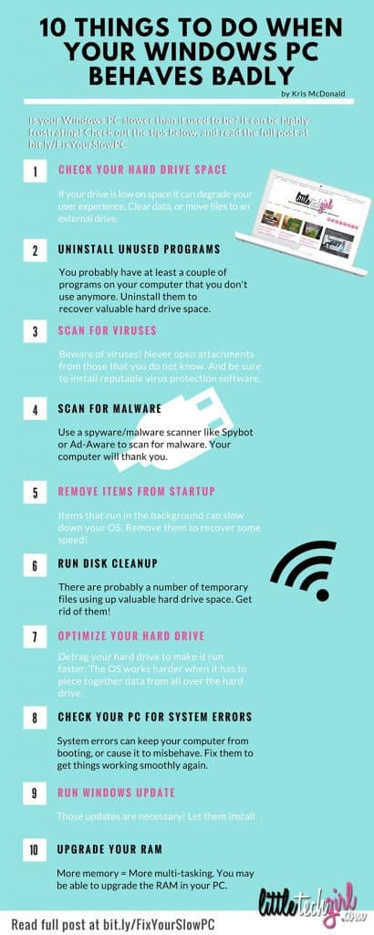 10 Things to Do When your Windows PC Behaves Badly   LittleTechGirl.com - bit.ly/FixYourSlowPC