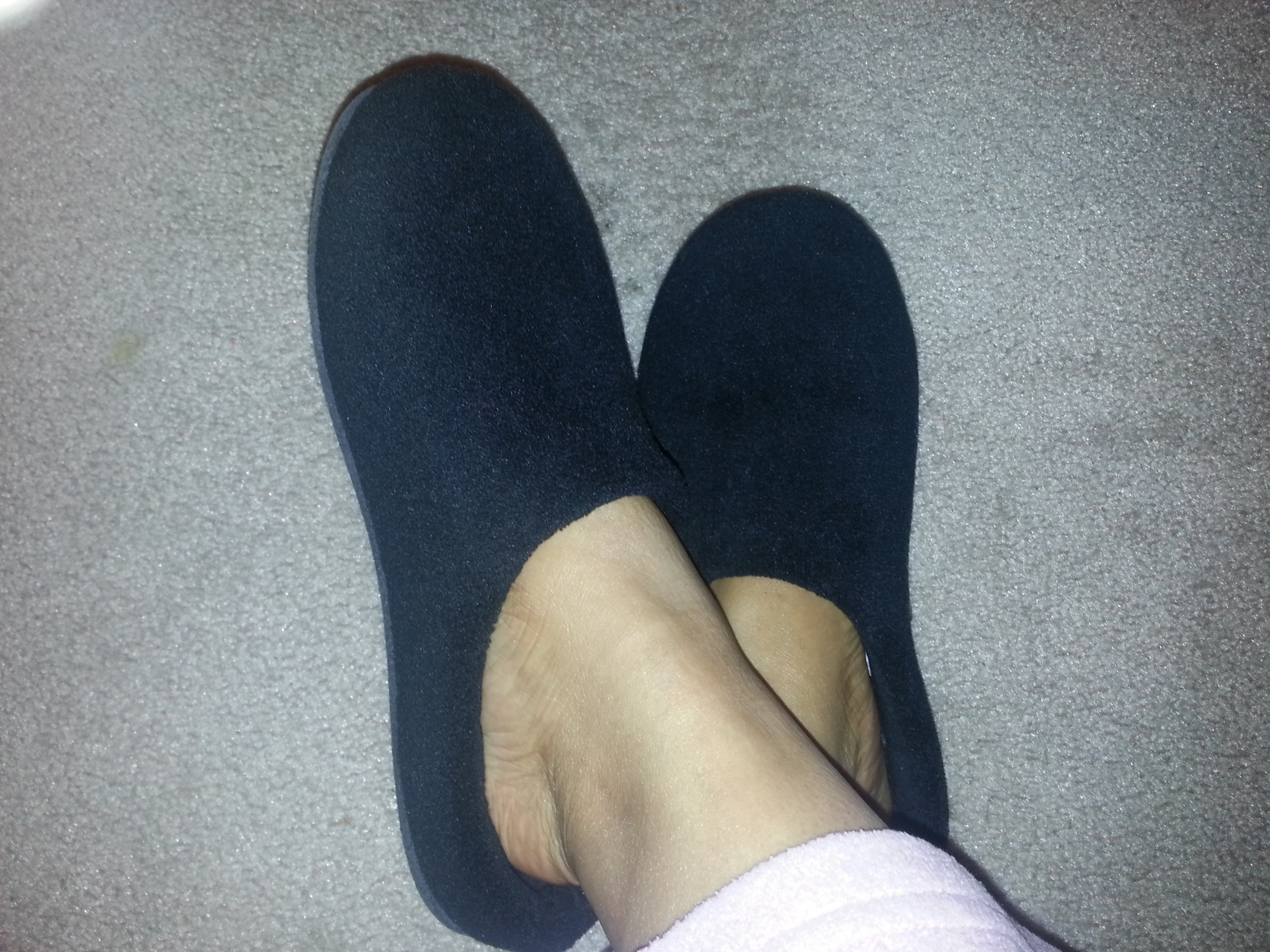 Keeping Warm While Home in Winter in Toasty Slippers