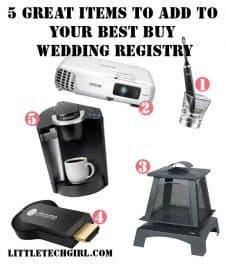 5 Great Items to Add to Your Best Buy Wedding Registry