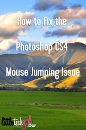 How to Fix the Photoshop CS4 Mouse Jumping Issue