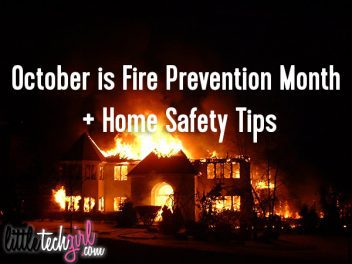 October is Fire Prevention Month + Home Safety Tips