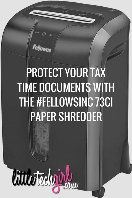 Protect Your Tax Time Documents with the Fellowes 73Ci Paper Shredder