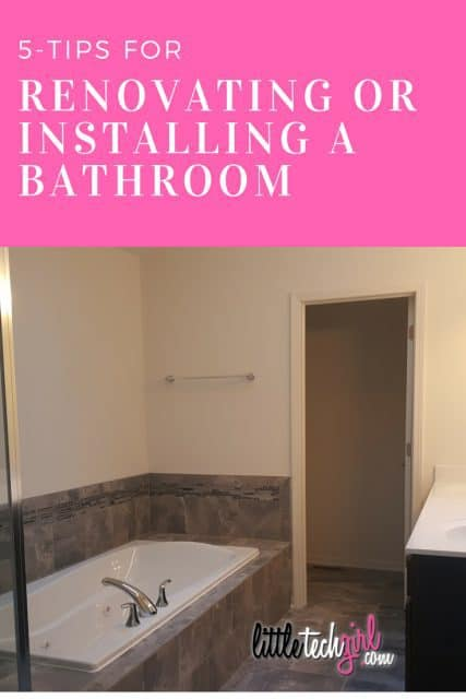 5-tips for Renovating or Installing a Bathroom