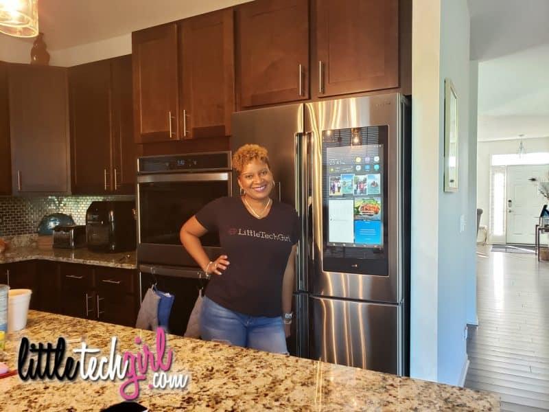 Samsung Family Hub - LittleTechGirl - with fridge-2