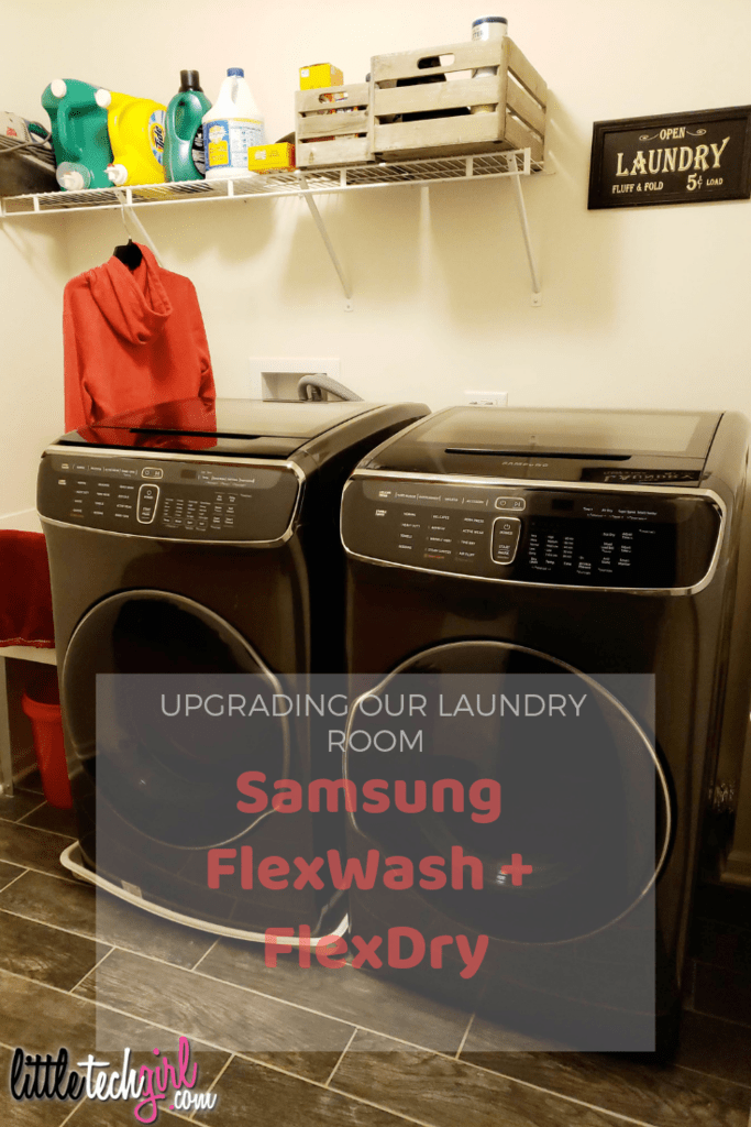 The Samsung FlexWash + FlexDry Washer & Dryer