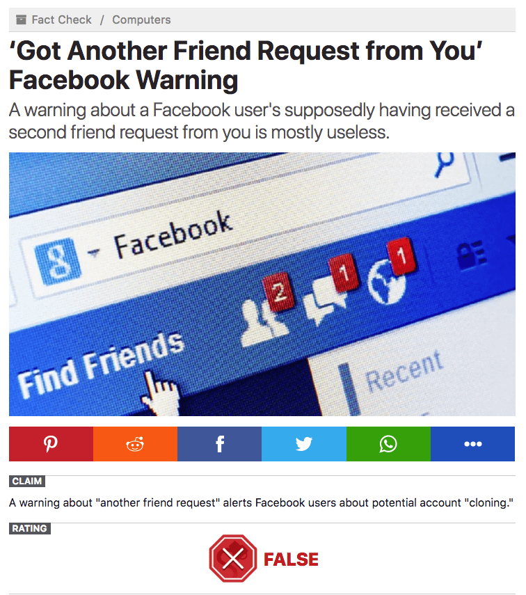 Beware of Facebook Scams: Don't Annoy Your Friends