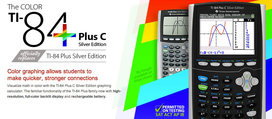 The_color_TI-84_Plus_C_Silver_Edition_officially_replaces_TI-84_Plus_Silver_Edition_by_Texas_Instruments_-_US_and_Canada