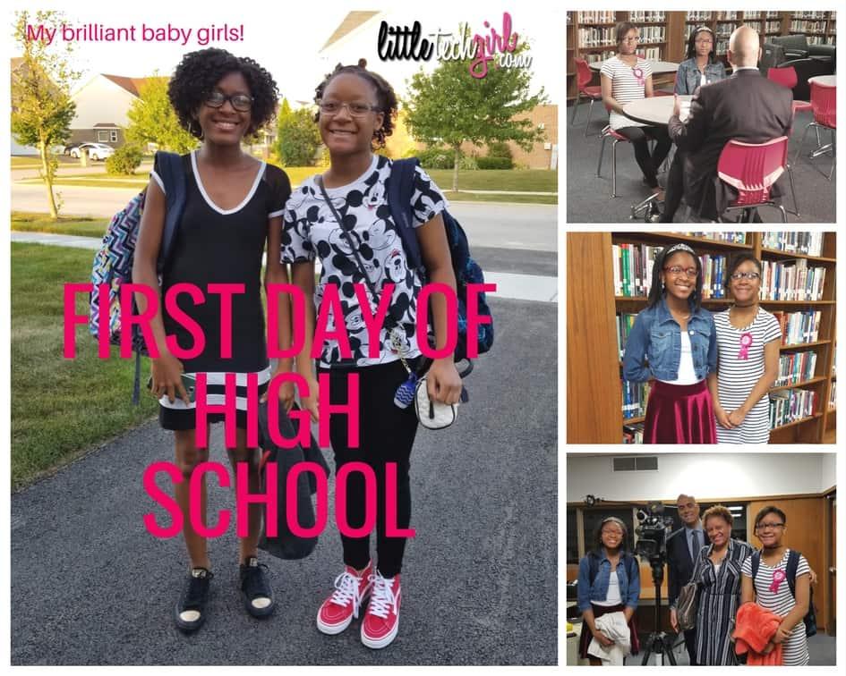 Twins first day of high school_littletechgirl