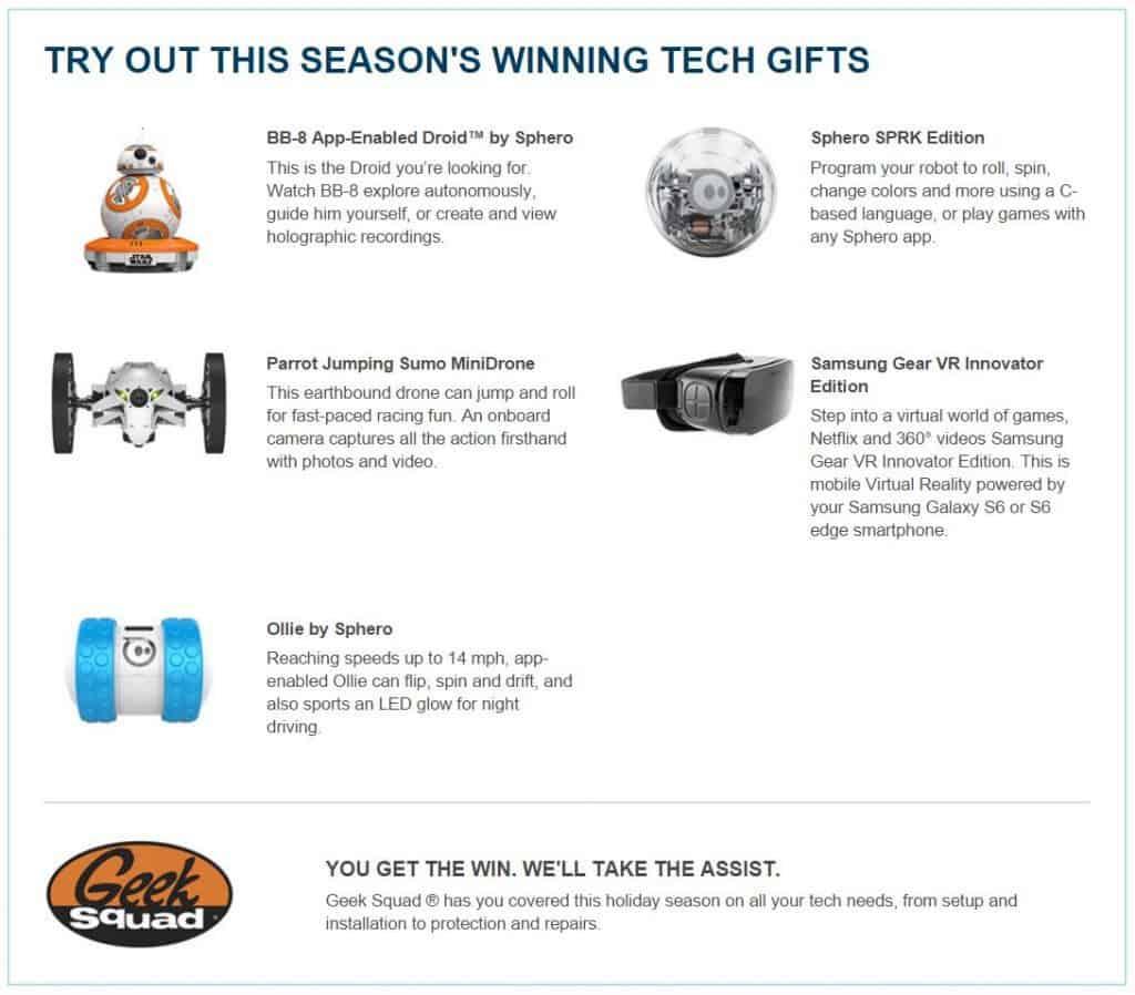 best buy tech gifts