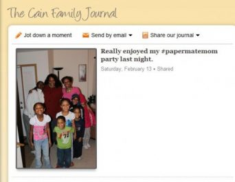 Using the Cozi Journal to share your family moments