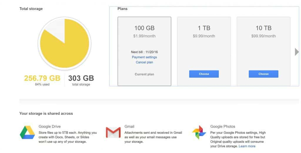 Upgrade Your Google Drive Storage