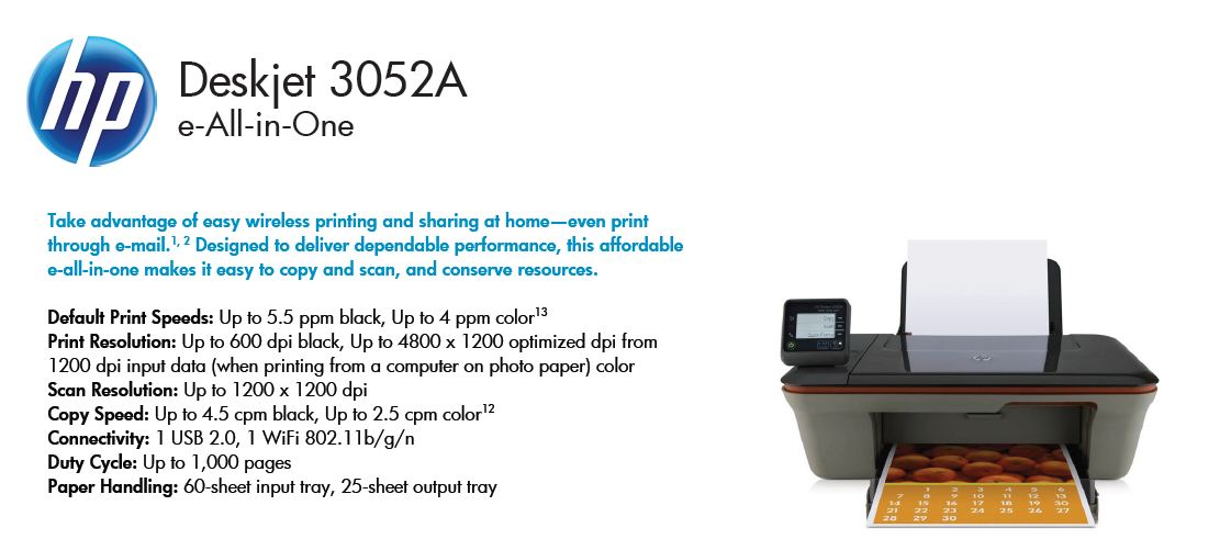 Drivers For Hp Deskjet 3052a