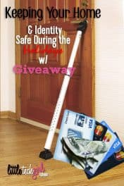 Keeping Your Home & Identity Safe During the Holidays w/ Giveaway