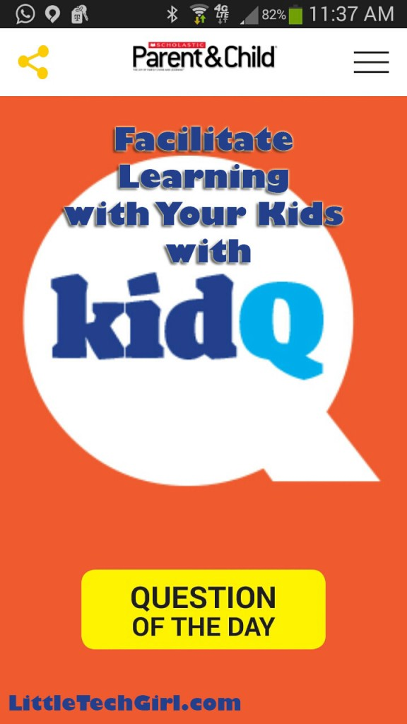 Facilitate Learning with Your Kids with KidQ by Scholastic