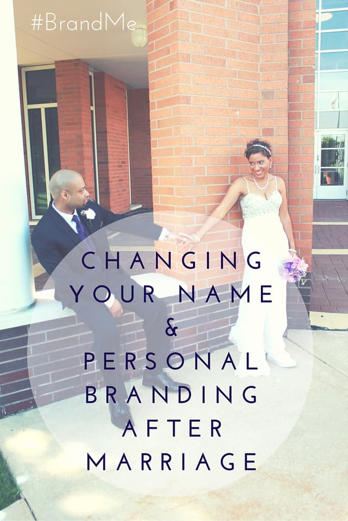 Dealing with a name change after marriage.