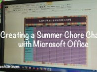 Creating a Summer Chore Chart with Microsoft Office