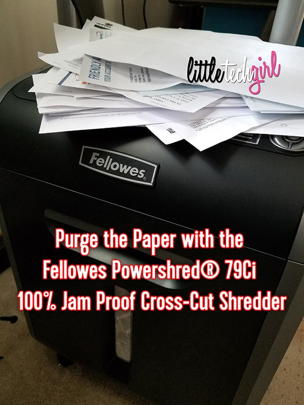 Purge the Paper with the Fellowes Powershred® 79Ci 100% Jam Proof Cross-Cut Shredder