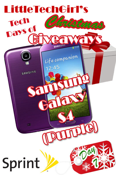 Tech Days of Christmas Giveaways: Samsung Galaxy S4 (Purple) from Sprint
