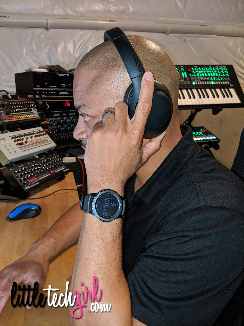 DJ using Sony WH-XB900N Headphones