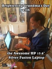 Brightening Grandma's Day with the Awesome HP 15.6″ Silver Fusion Laptop