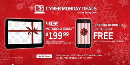 Cyber Monday Deal: Get a Motorola Xoom from Verizon Today for Only $199!!